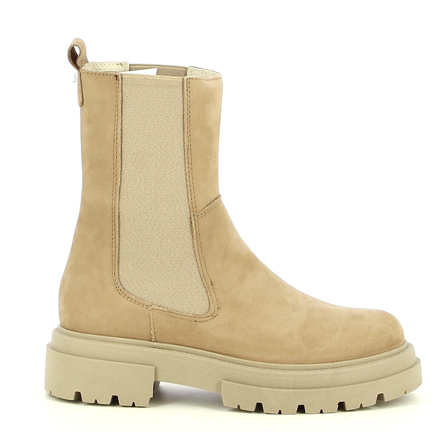 Ken Shoe Fashion - Beige - Enkellaarzen