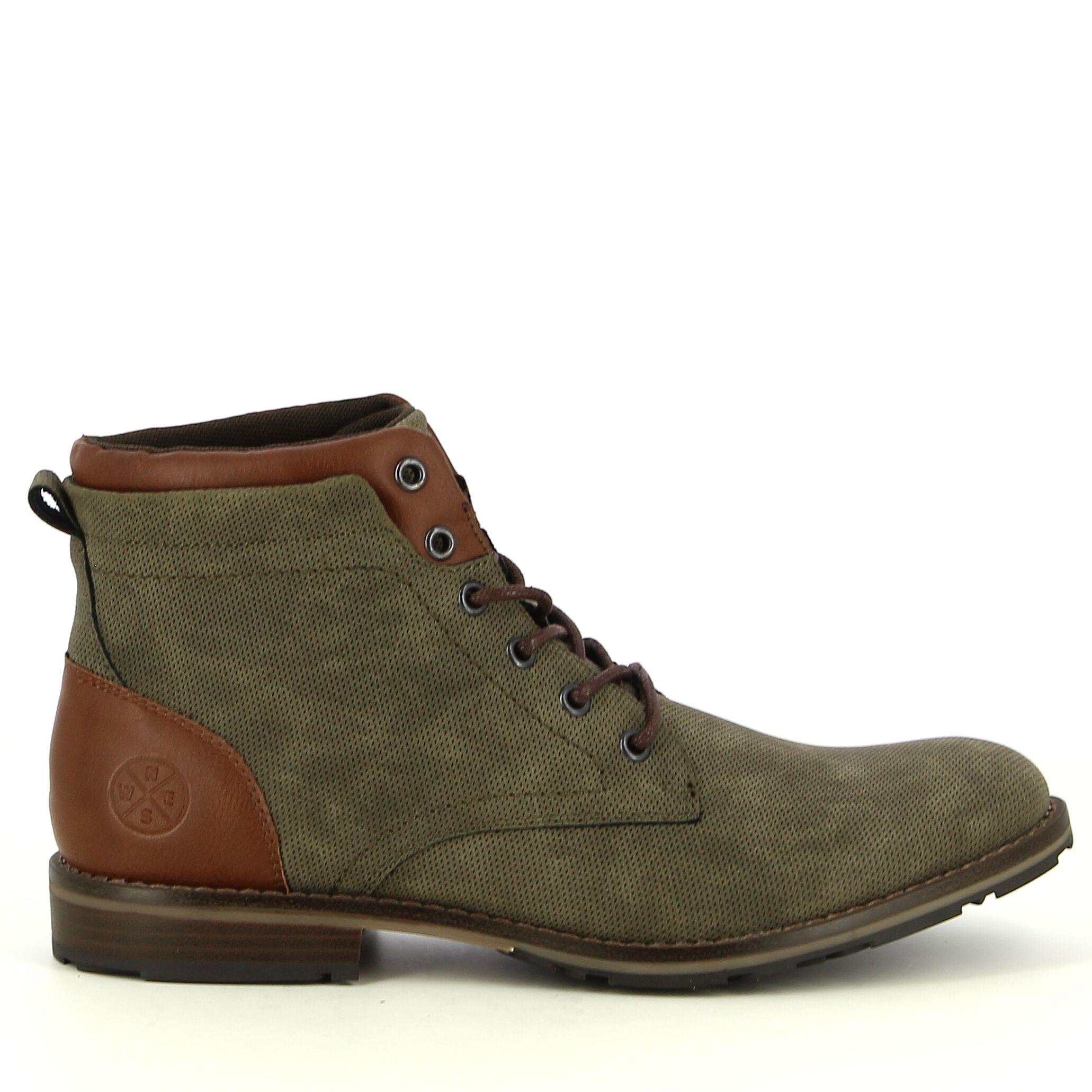 Ken Shoe Fashion - Kaki -Veterschoenen