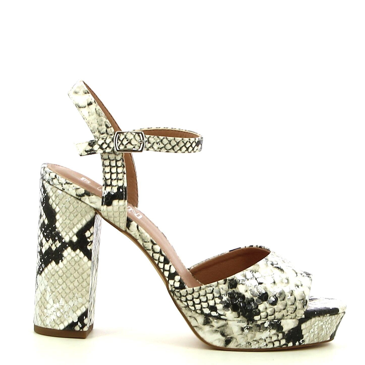 Ken Shoe Fashion - Wit Snake - Sandalen