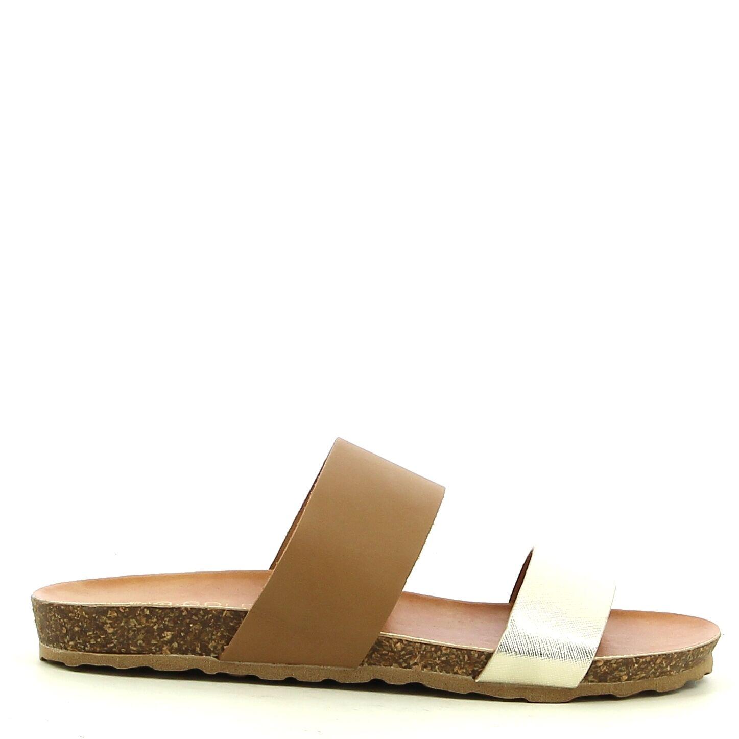 Ken Shoe Fashion - -Nu-Pieds - Doré/Beige