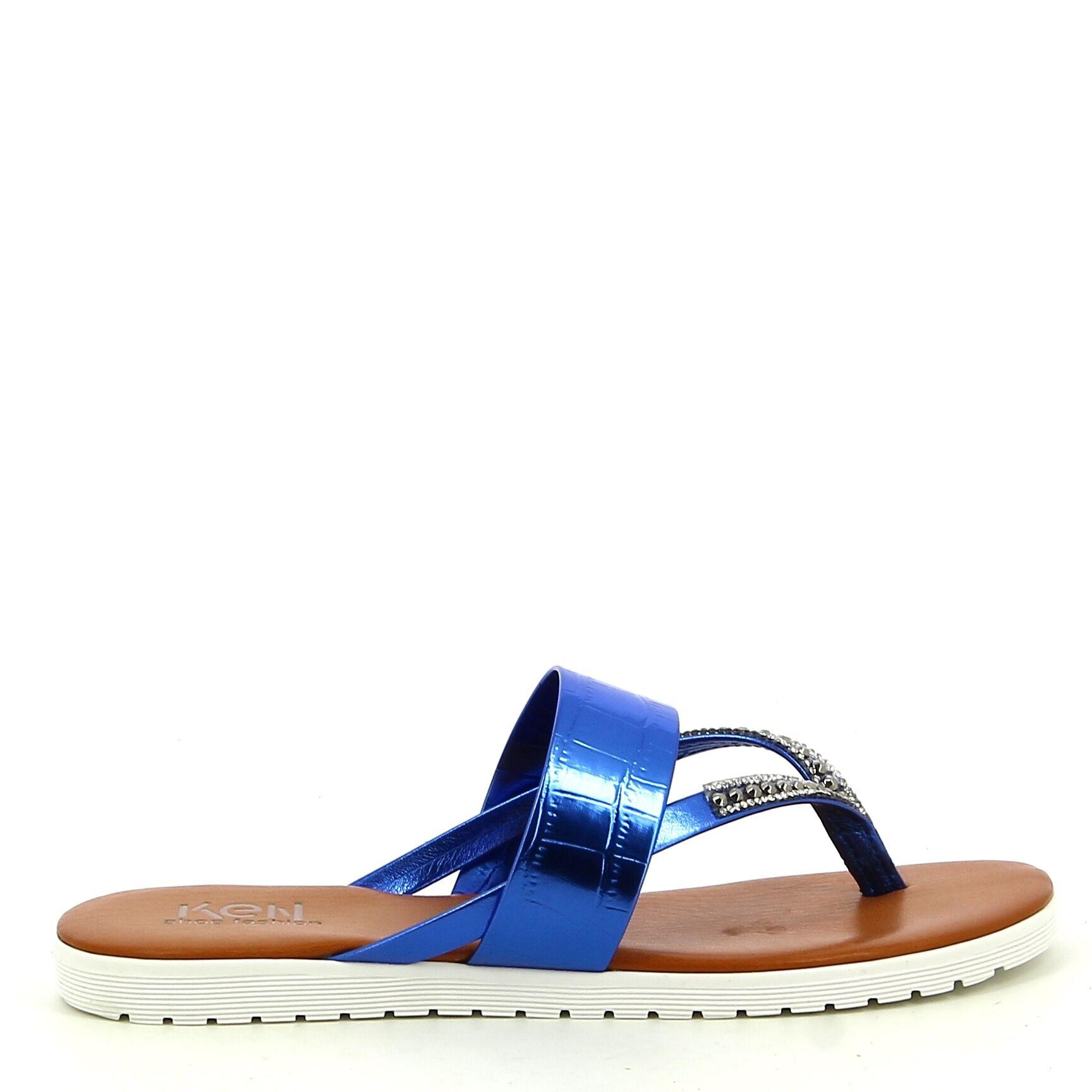 Ken Shoe Fashion - Blauw - Teenslippers