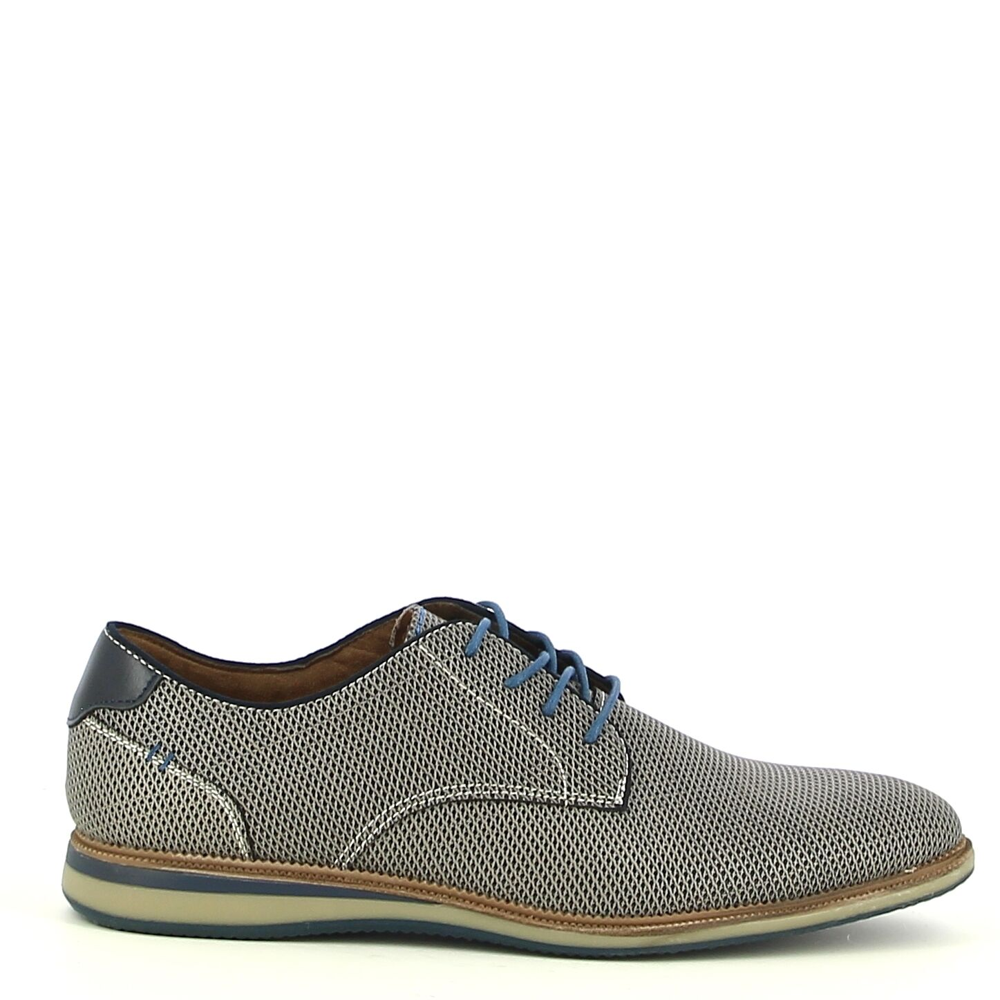 Ken Shoe Fashion - Grijze veterschoen
