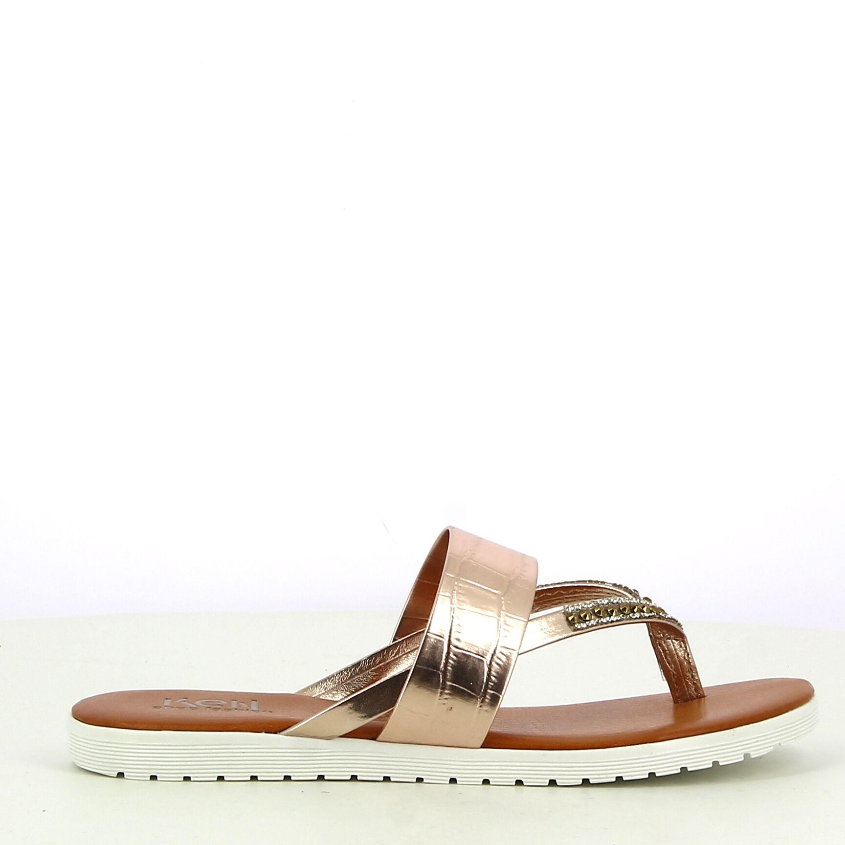 Ken Shoe Fashion - Rose Goud - Teenslippers