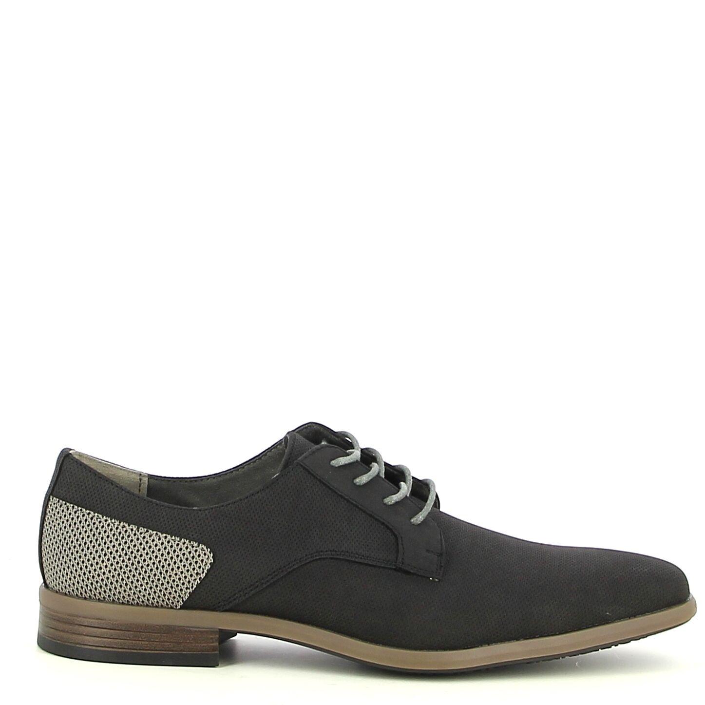 Ken Shoe Fashion - Zwart/Beige - Veterschoenen