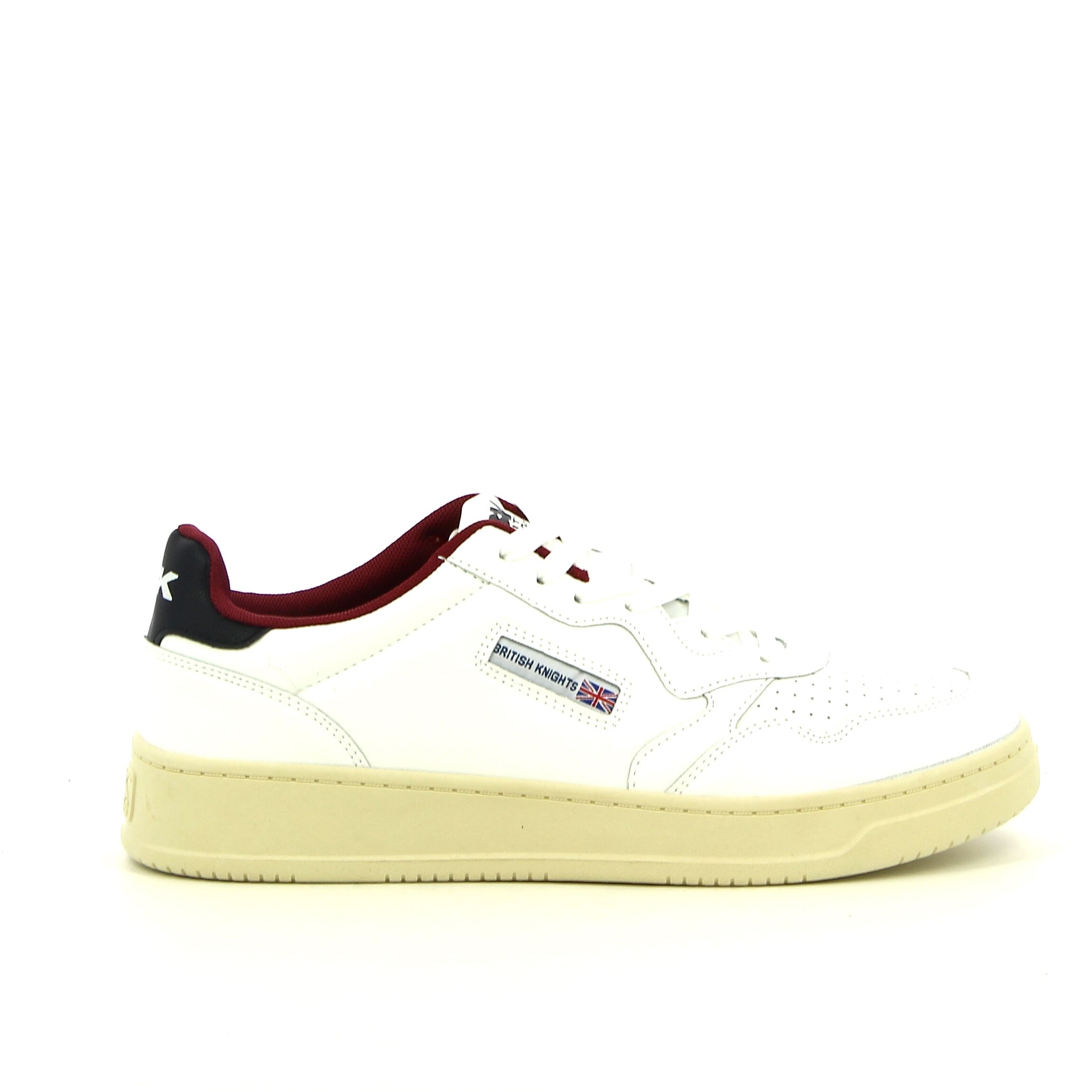 BK - Wit/Zwart - Sneakers