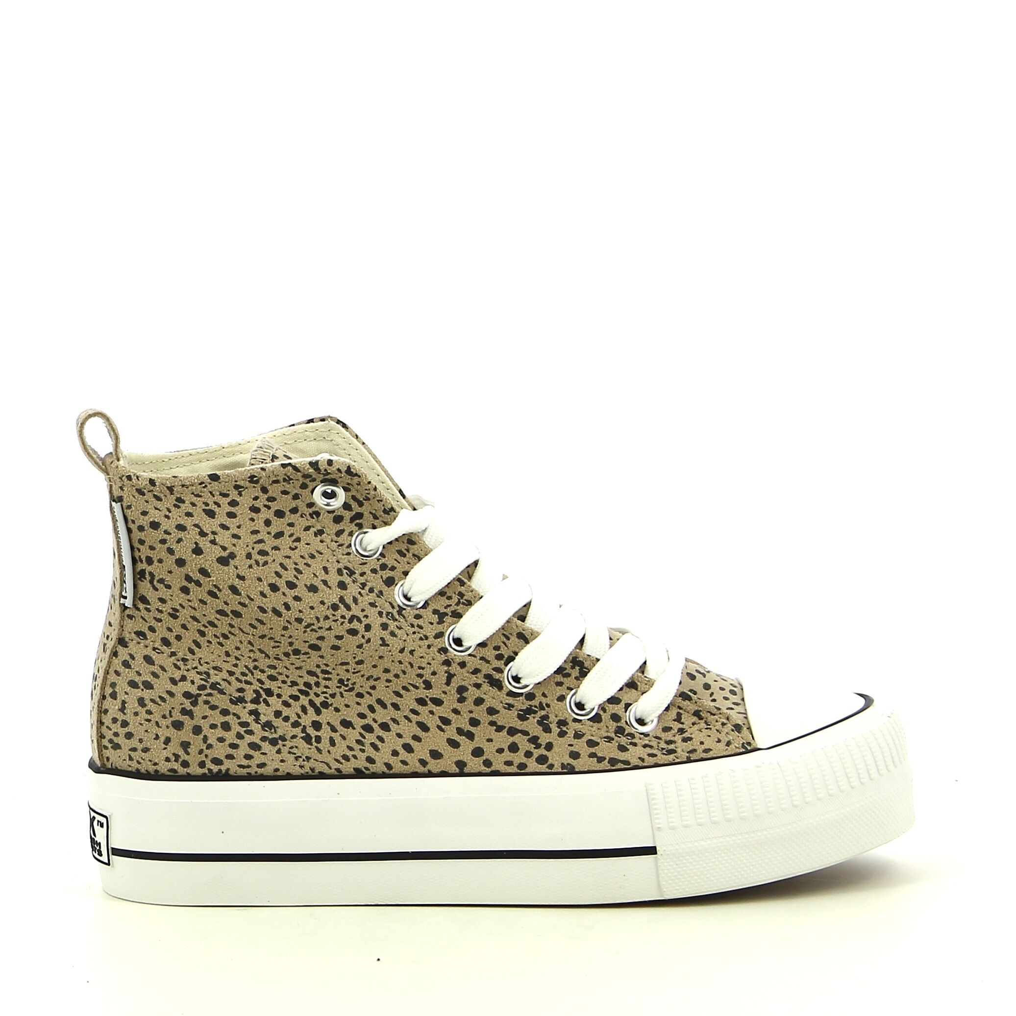 BK - Beige/Luipaard - Sneakers