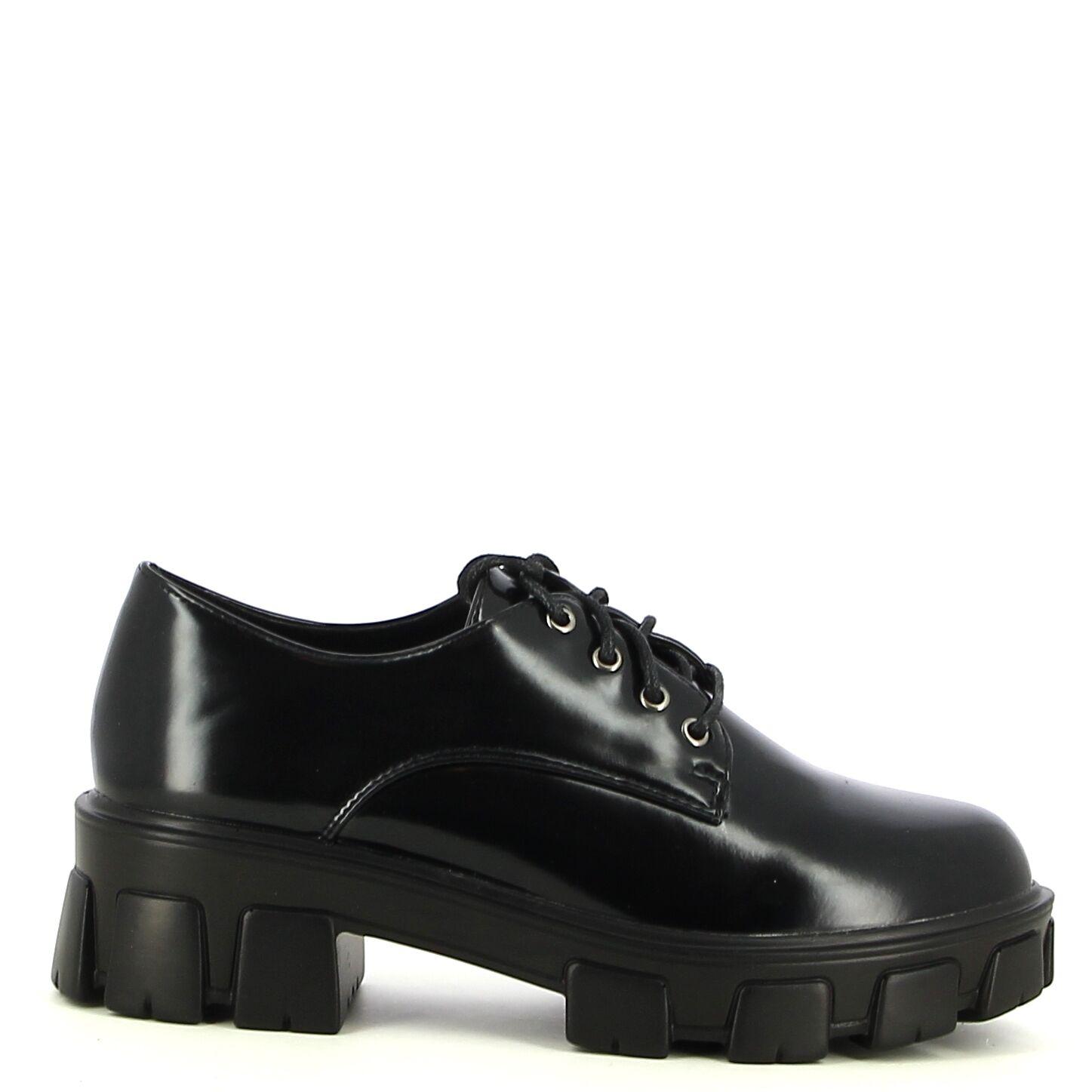 Ken Shoe Fashion - Zwart - Veterschoenen