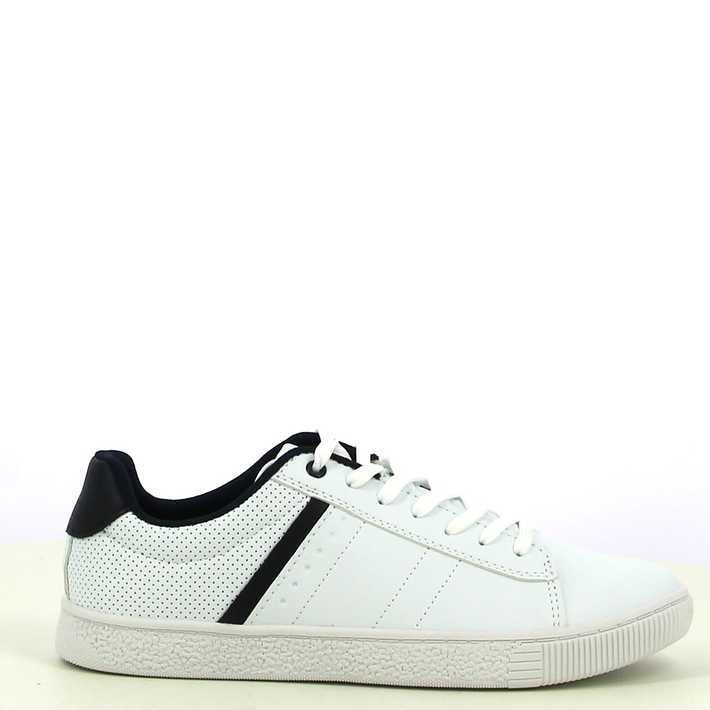Ken Shoe Fashion - Wit/Zwart - Sneakers