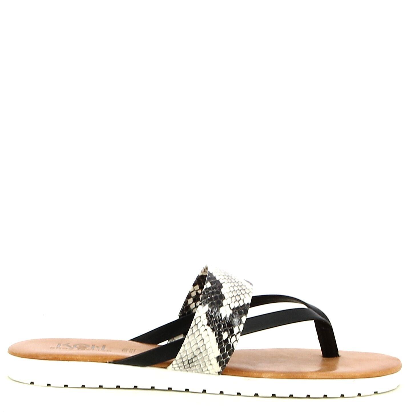 Ken Shoe Fashion - Zwart Snake - Teenslippers