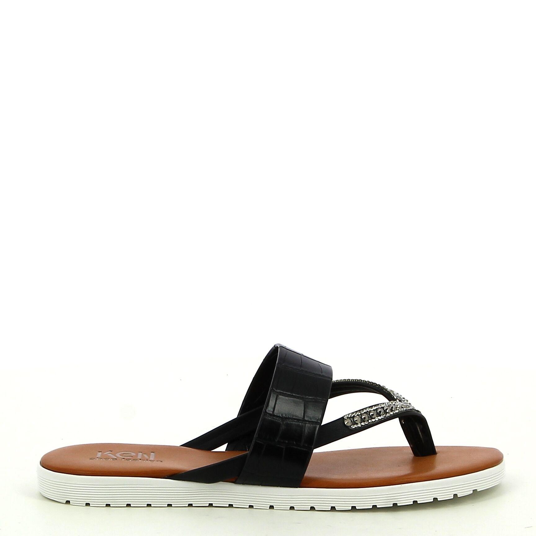 Ken Shoe Fashion - Zwart - Teenslippers