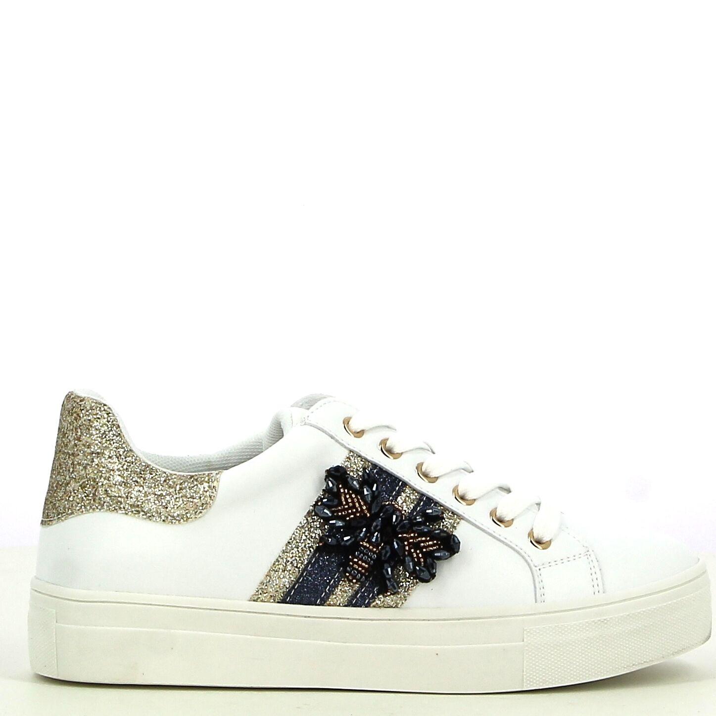 Ken Shoe Fashion - Wit/Goud - Sneakers