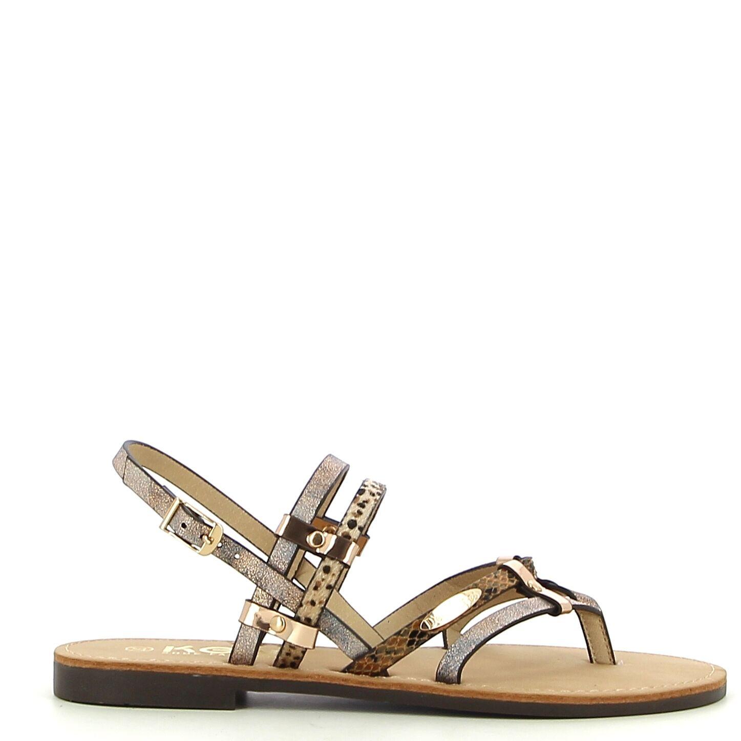 Ken Shoe Fashion - Bruin/Multi - Sandalen