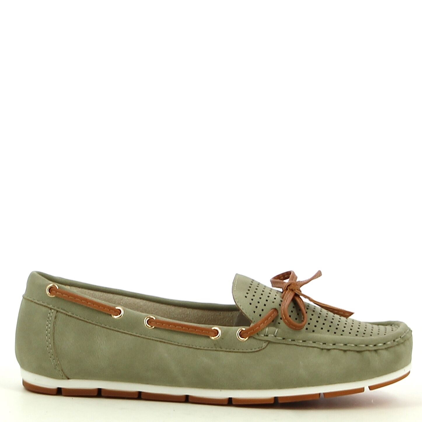 Ken Shoe Fashion - Groen - Instappers/Mocassins