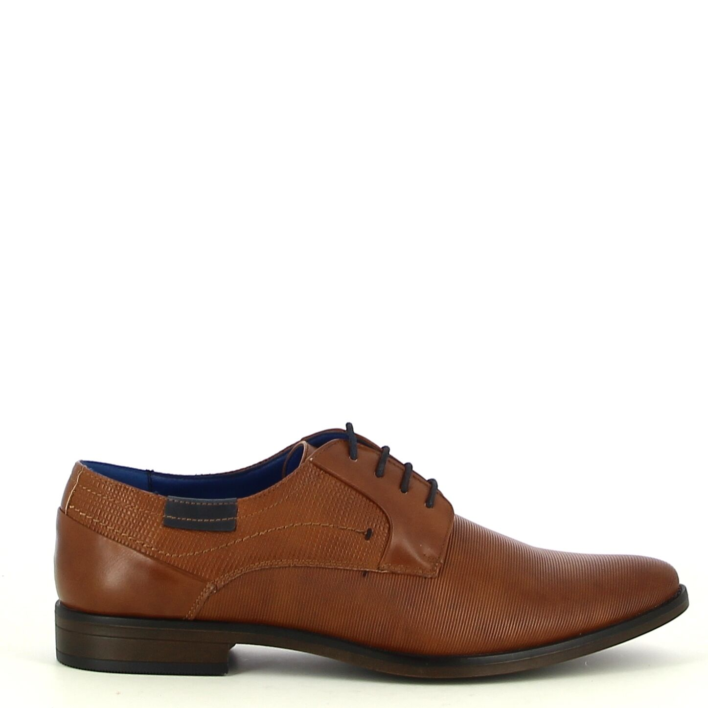 Ken Shoe Fashion - Camel veterschoen met navy details