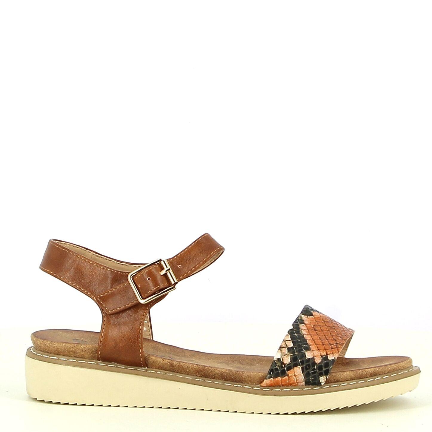 Ken Shoe Fashion - Camel/Multi  - Sandalen