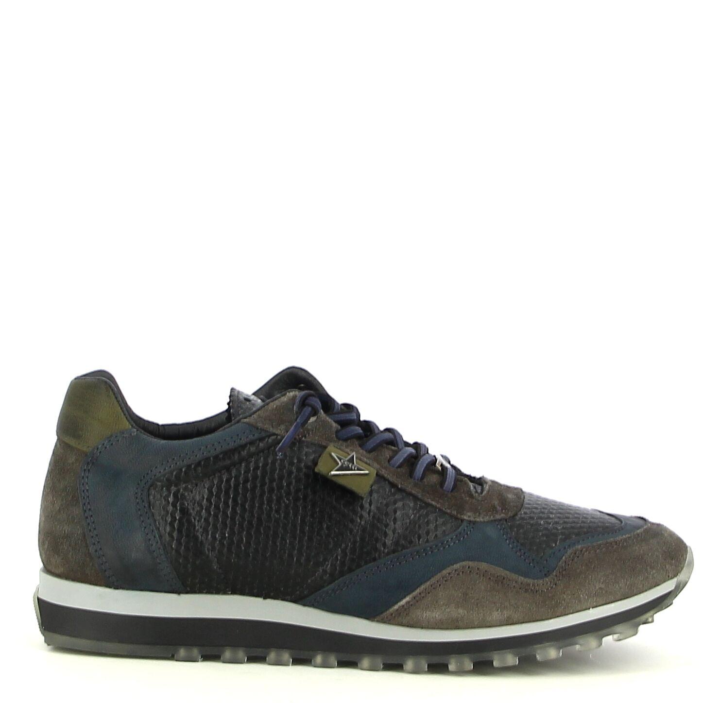 Cetti - Grijze met kaki sneaker