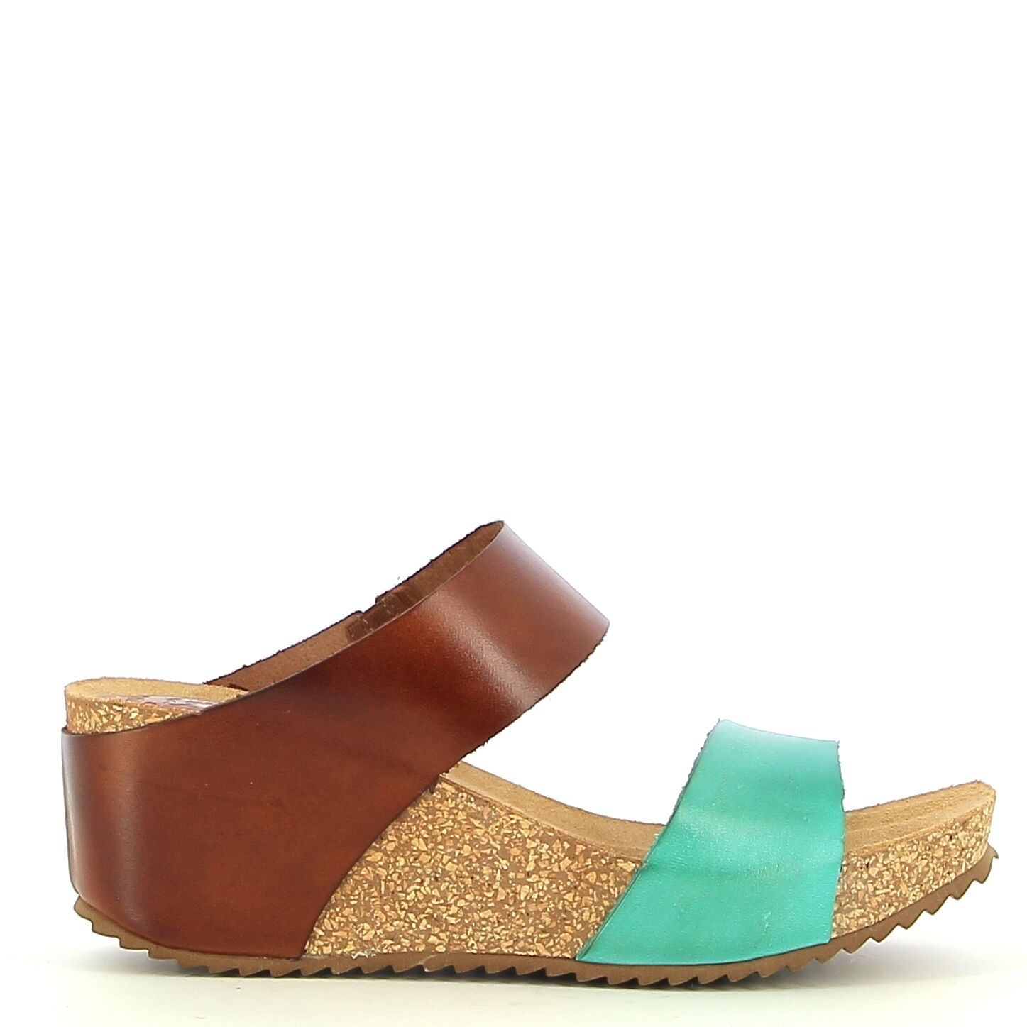 Ken Shoe Fashion - Camel/Turquoise - Instappers