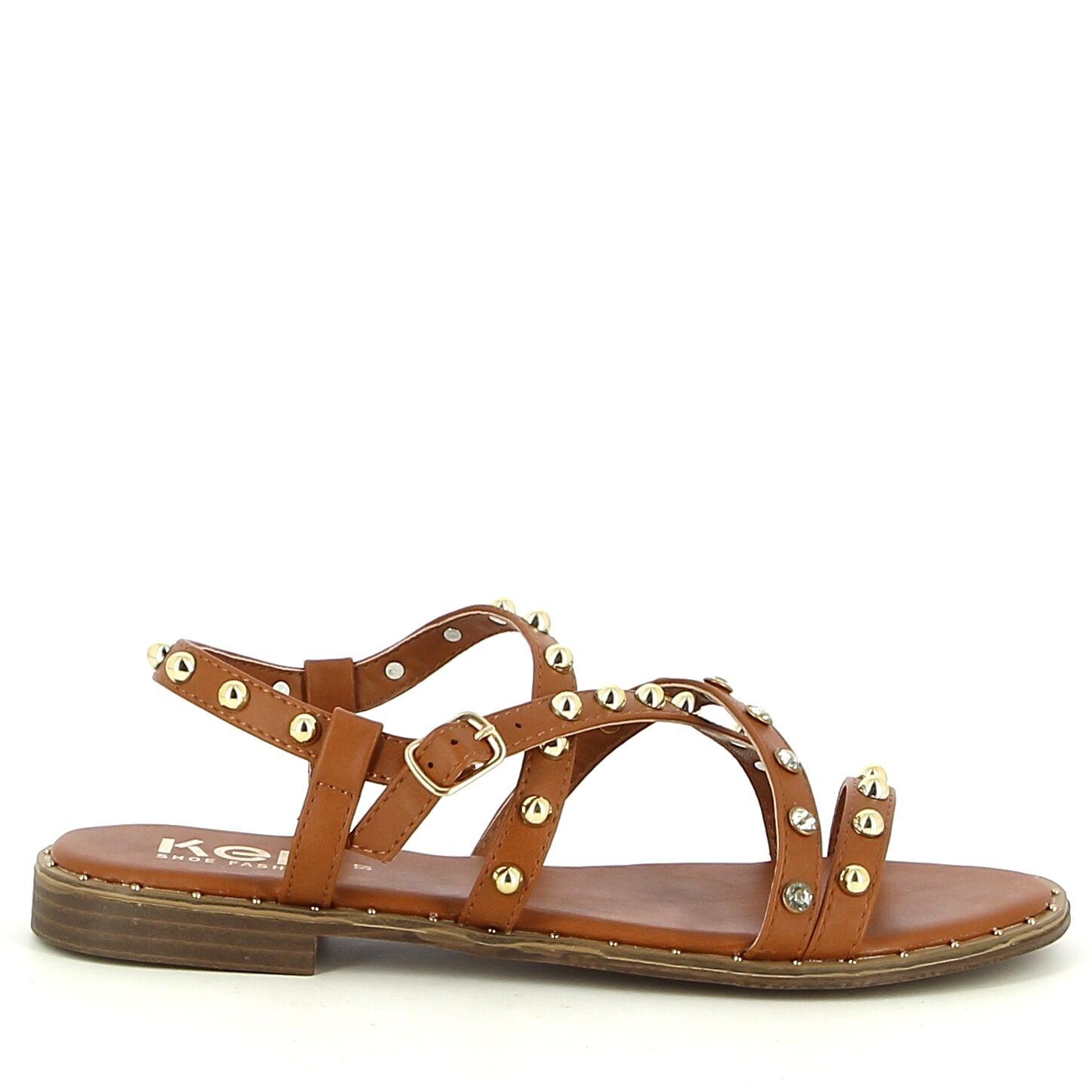 Ken Shoe Fashion - Sandales - Camel avec strass