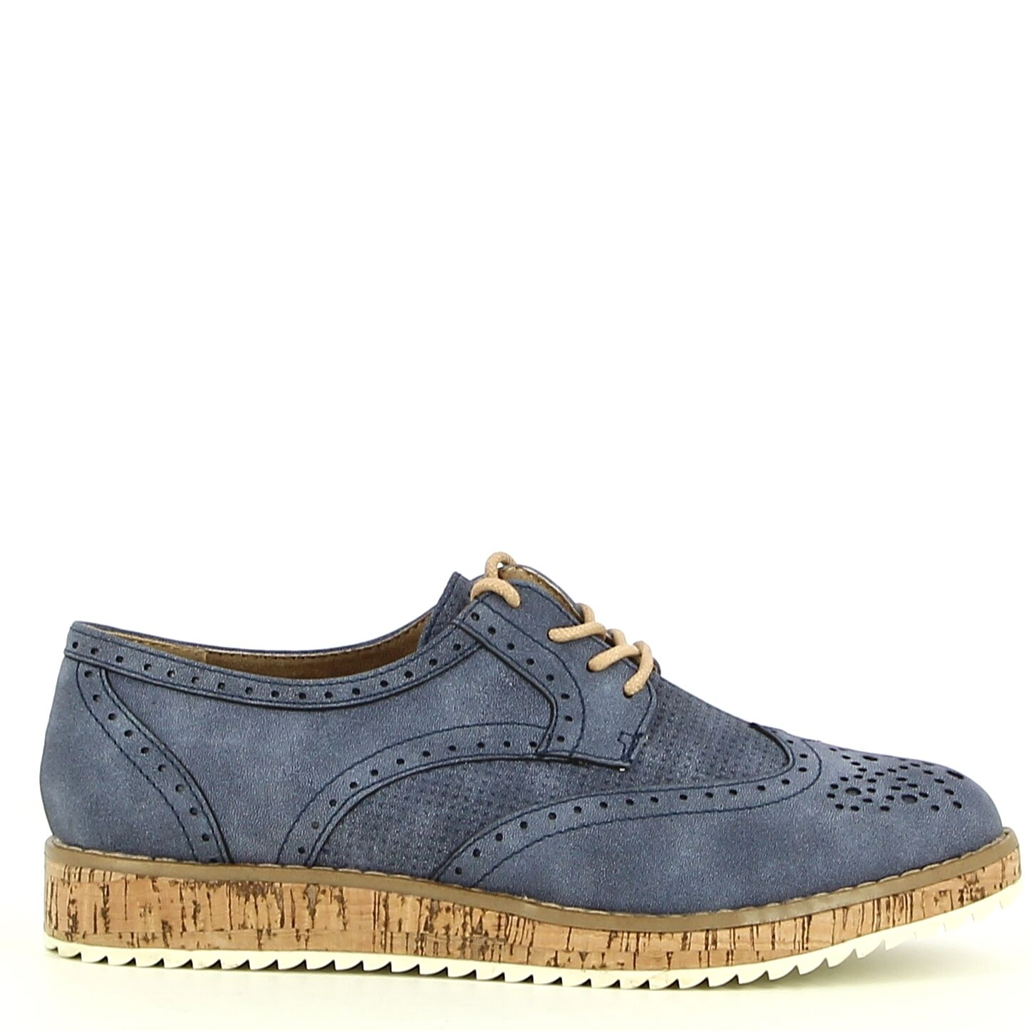 Ken Shoe Fashion - Blauw - Veterschoenen