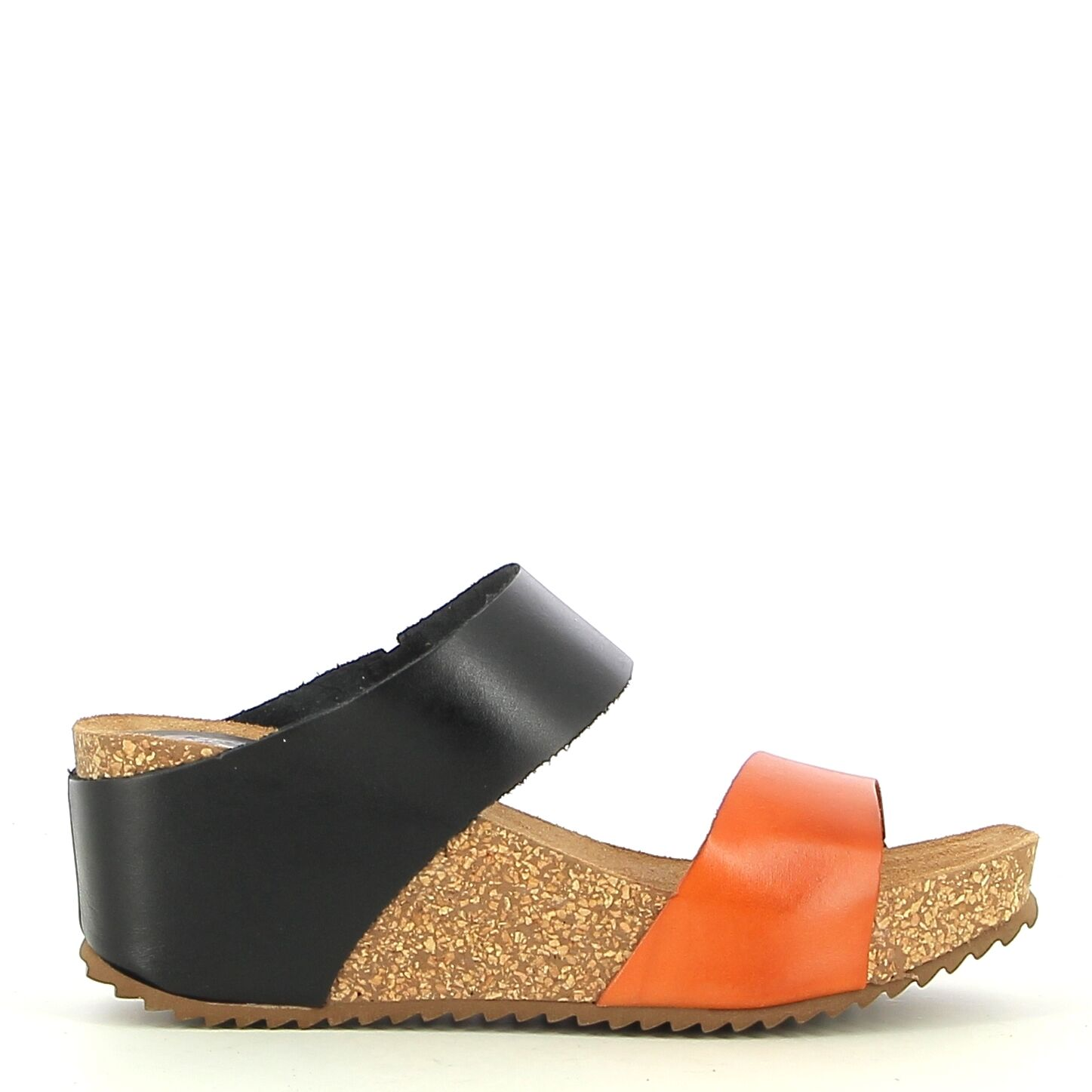 Ken Shoe Fashion - Oranje/Zwart - Instappers