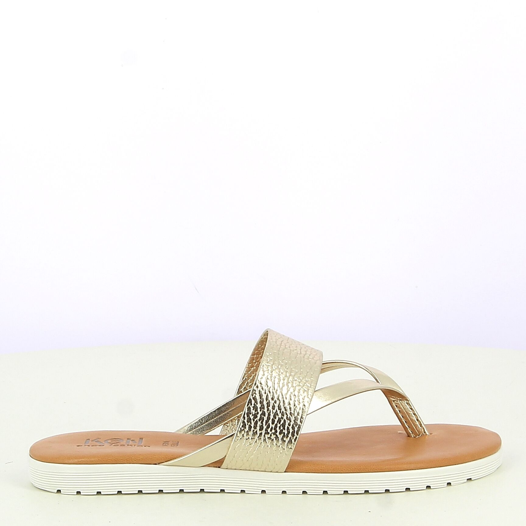 Ken Shoe Fashion - Tongs - Doré Clair