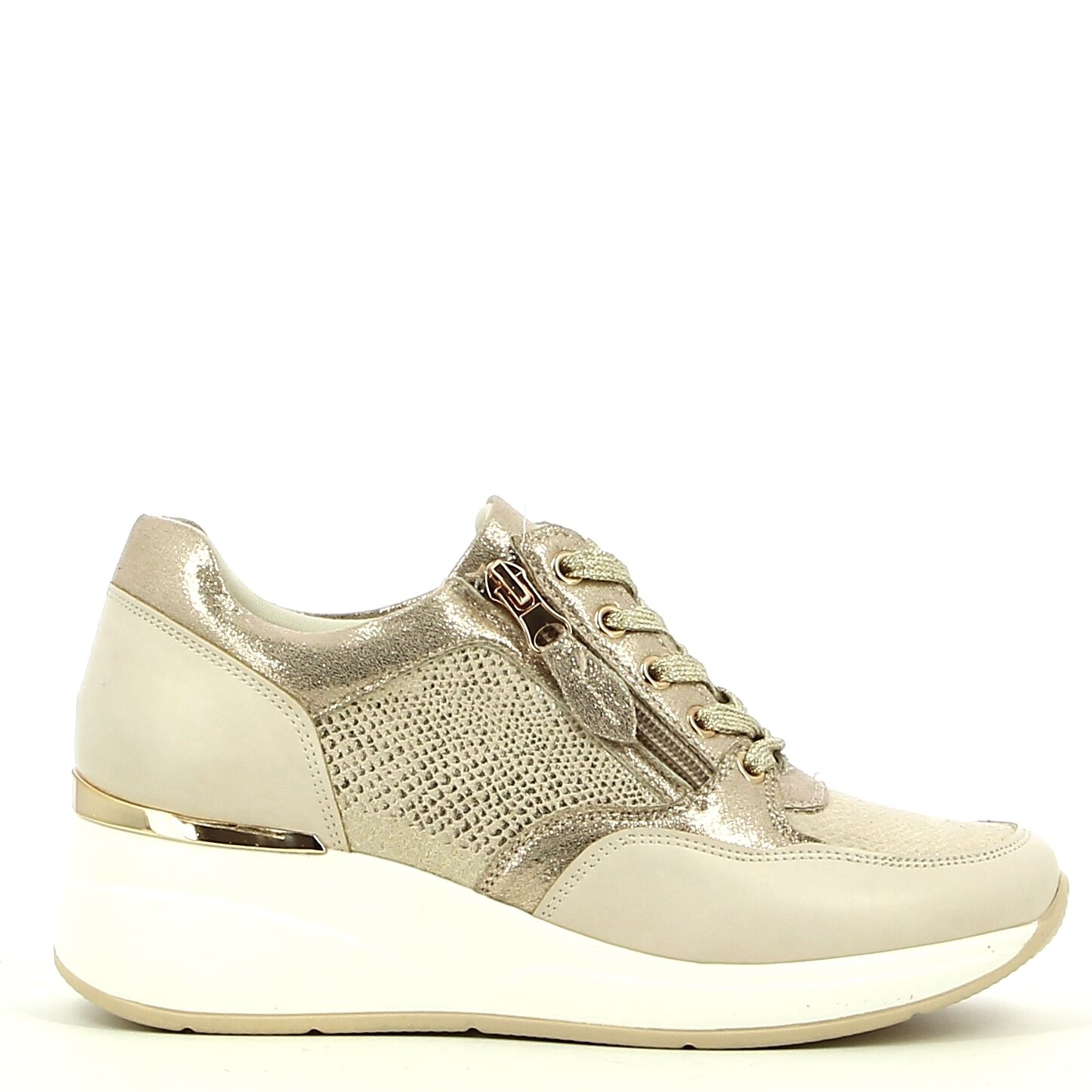 Ken Shoe Fashion - Beige/Goud - Sneakers