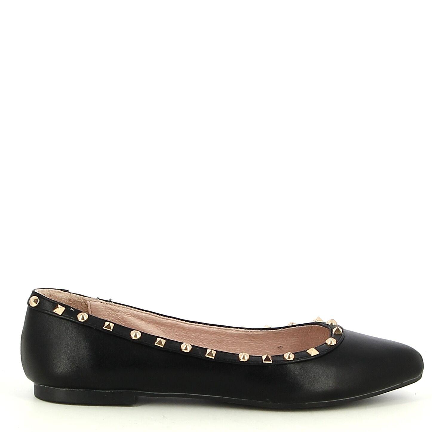 Ken Shoe Fashion - Ballerines - Noir avec strass