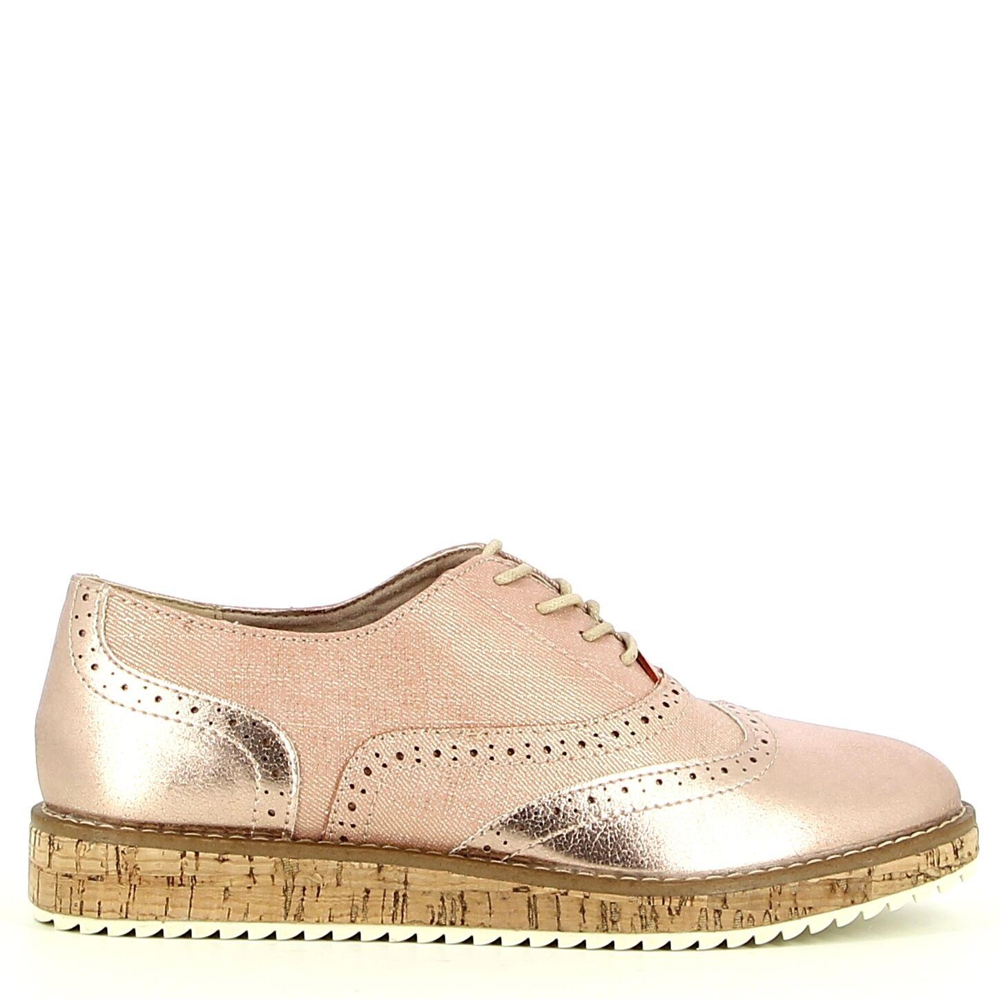Ken Shoe Fashion - Rosé Goud - Veterschoenen