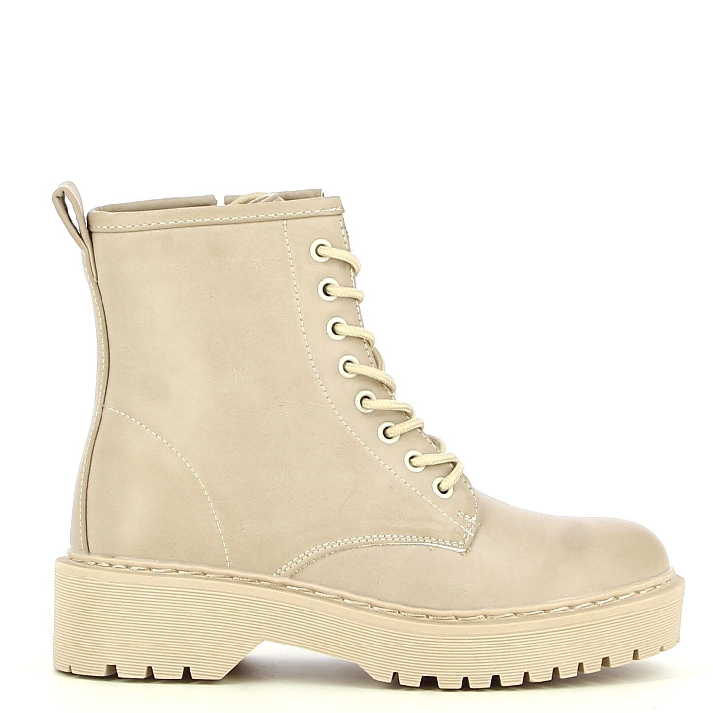 Ken Shoe Fashion - Beige - Enkellaarzen/Boots