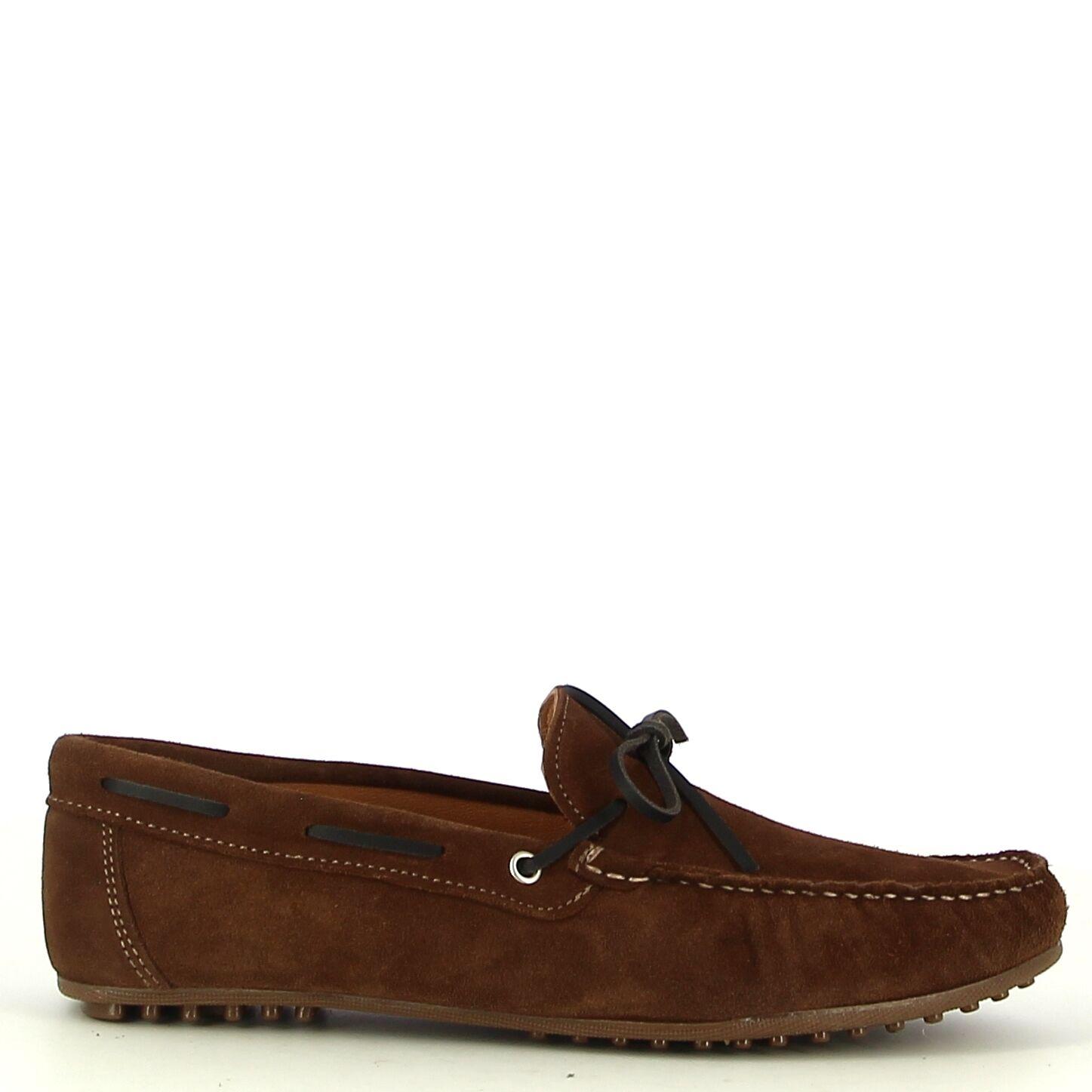 Ken Shoe Fashion - Bruine mocassins met zwarte details
