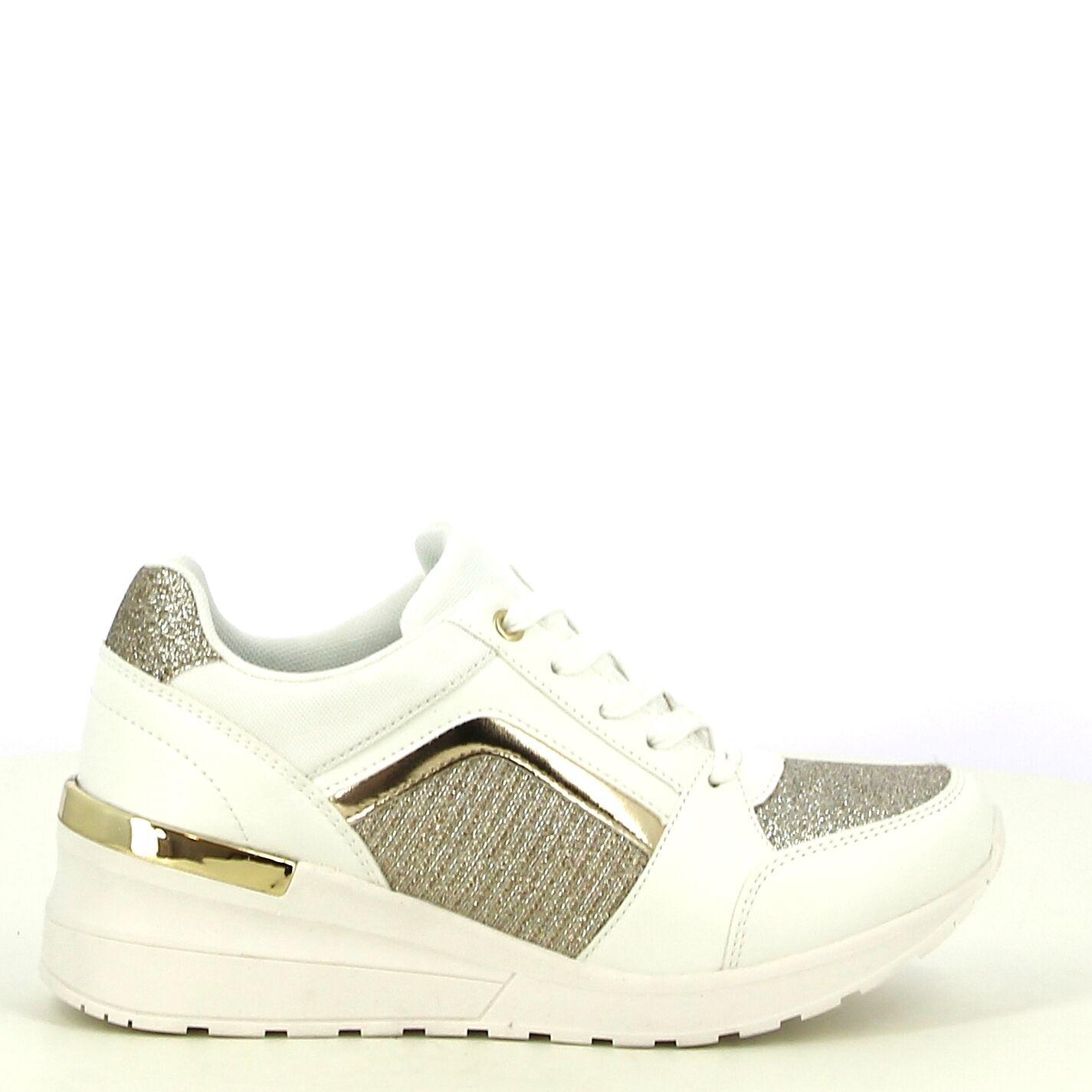 Ken Shoe Fashion - Blanc/Doré - Baskets