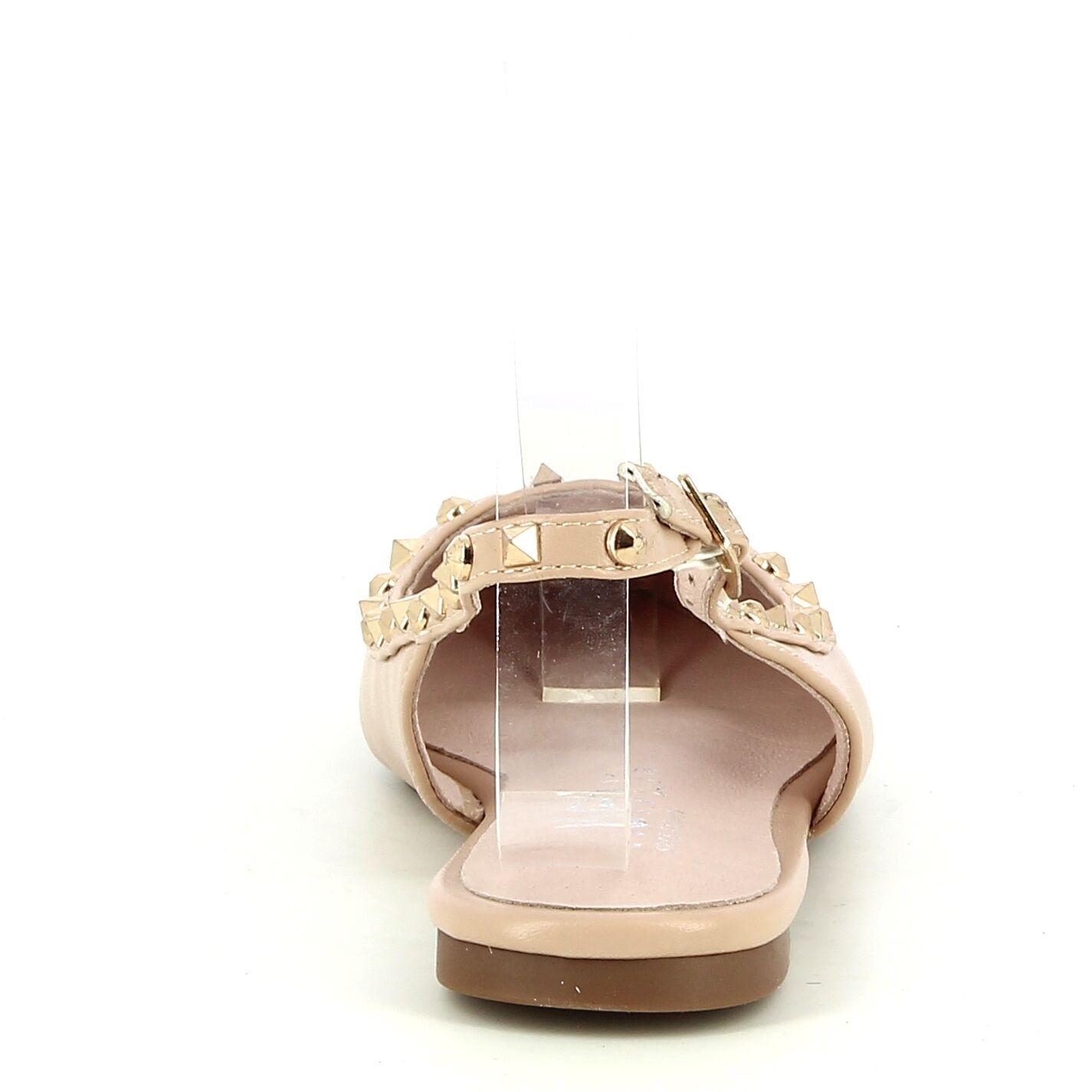 Ken Shoe Fashion - Ballerines - Beige avec strass