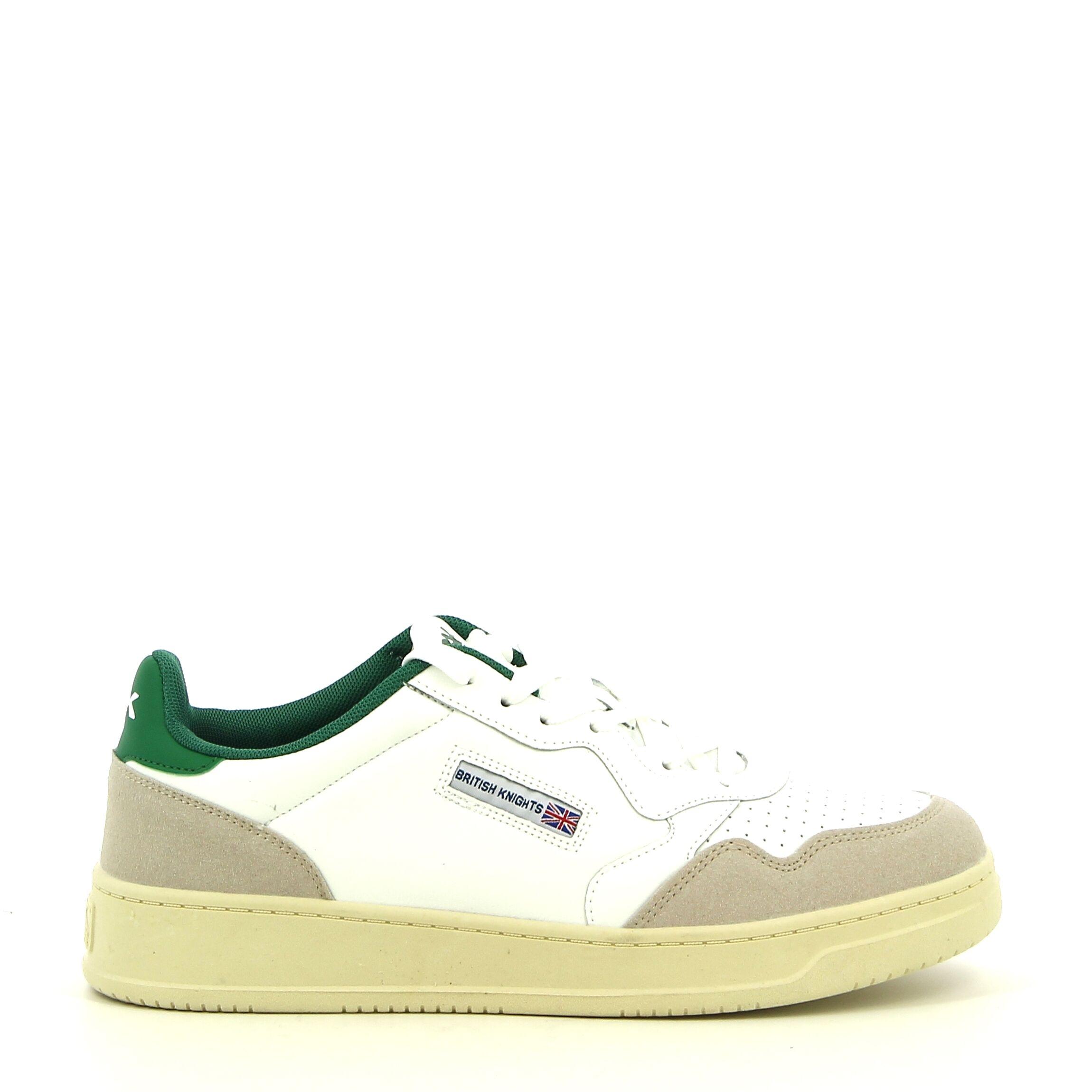 BK - Wit/Groen - Sneakers