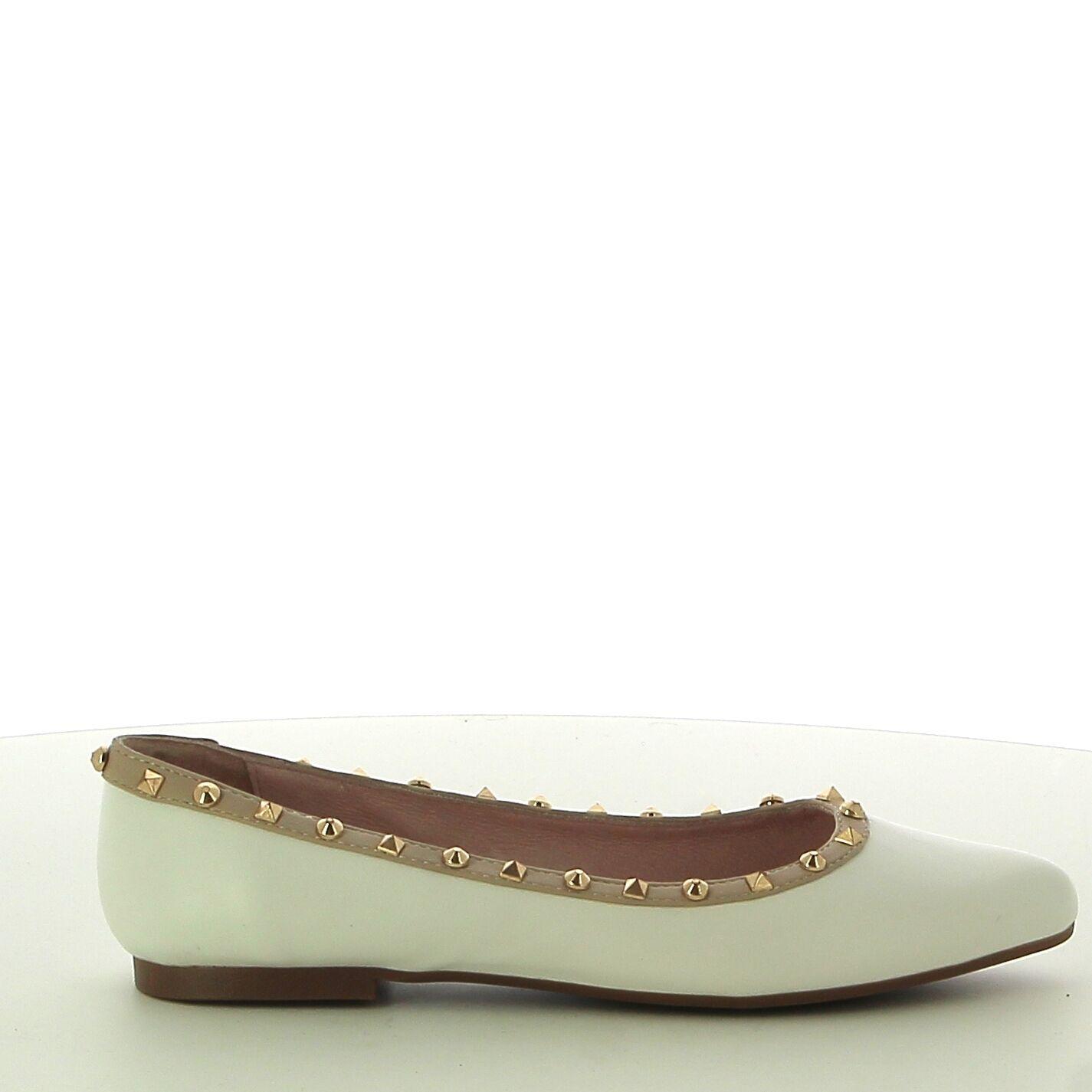 Ken Shoe Fashion - Ballerines - Blanc avec strass
