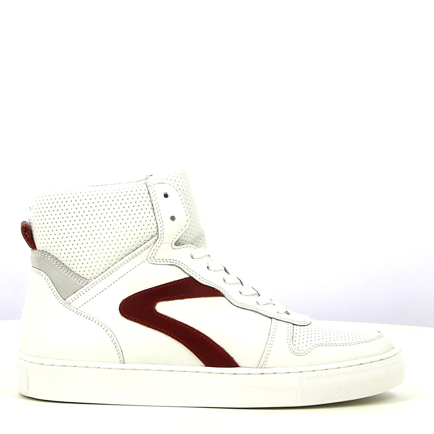 Ken Shoe Fashion - Wit/Rood - Sneakers