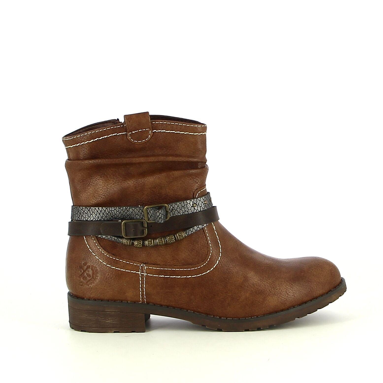 Ken Shoe Fashion - Camel - Enkellaarzen