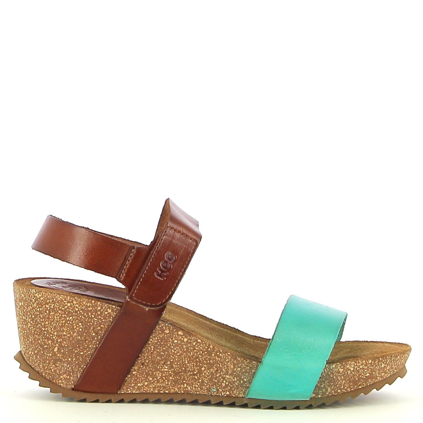 Ken Shoe Fashion - Camel/Licht blauw - Sandalen