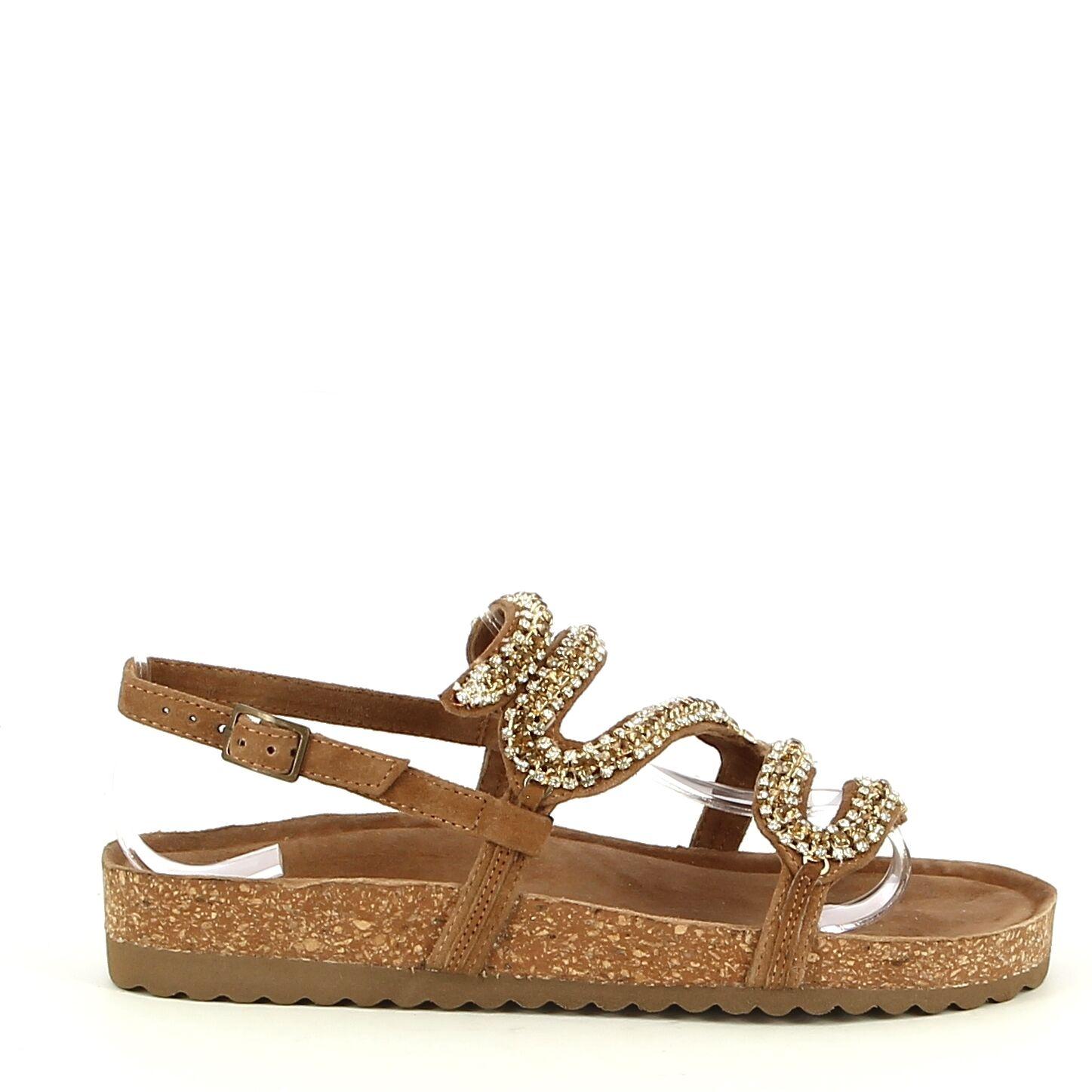 Ken Shoe Fashion - Camel/Goud - Sandalen
