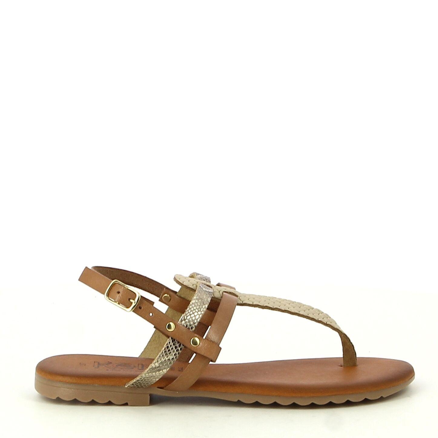 Ken Shoe Fashion - Tongs - Camel/Doré